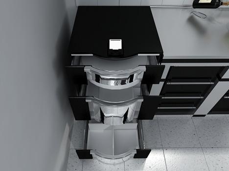 gr ner designer k hlschrank mit rfid zeitgeist. Black Bedroom Furniture Sets. Home Design Ideas