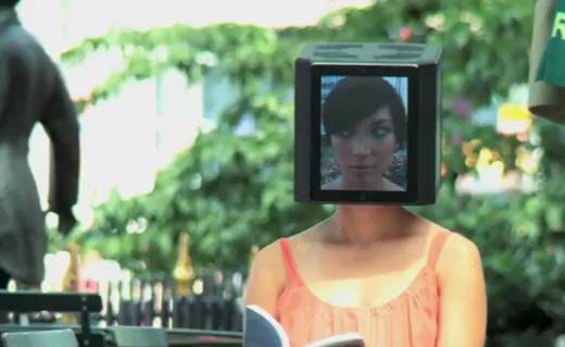 iPad-Kopf Mädchen