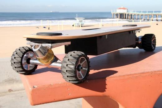 ZBoard Skateboard fahren wird elektrisch