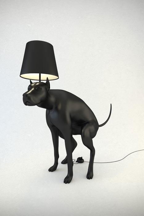 Pooping Dog Lampe Good Boy