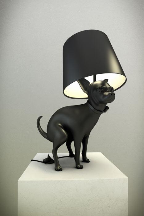 Pooping Dog Lampe Good Puppy
